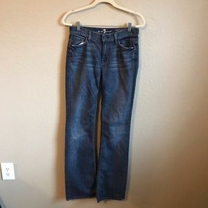 7 For All Mankind High Waist Boot Cut Jeans 28